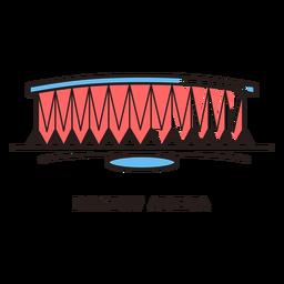 Logotipo do estádio de futebol de arena de Rostov