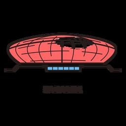 Logotipo del estadio de fútbol de Saransk