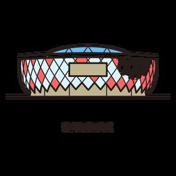 Logotipo del estadio de fútbol de Moscú Spartak