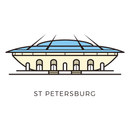 Logotipo del estadio de fútbol de San Petersburgo