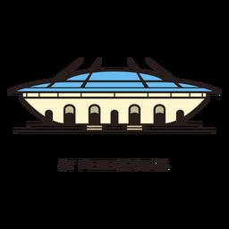 Logotipo do estádio de futebol de São Petersburgo