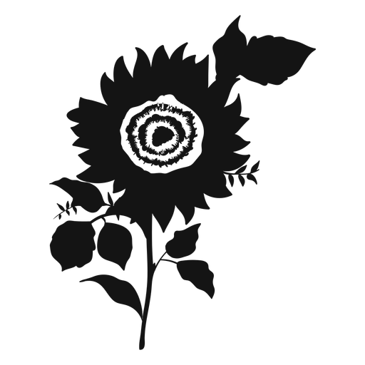 Sunflower grey icon Transparent PNG