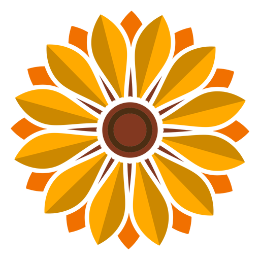 Sunflower head icon Transparent PNG