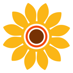 Sunflower head logo