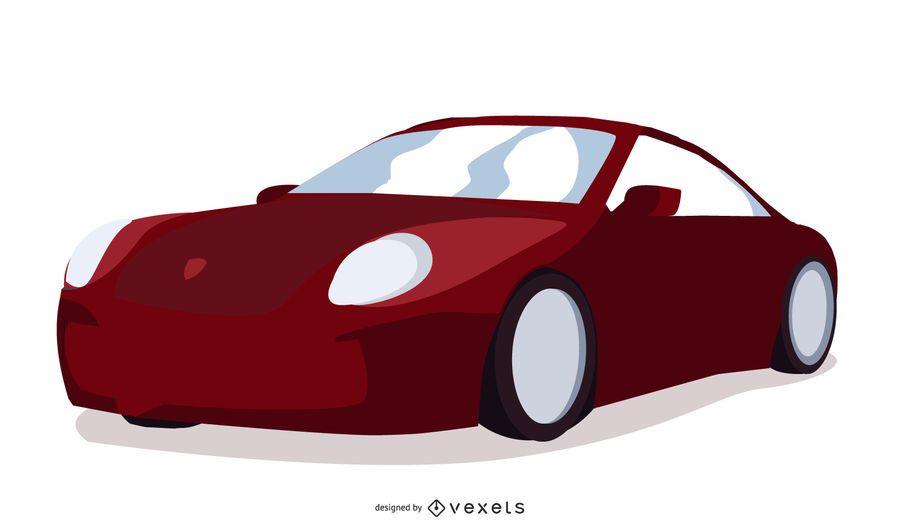 Vetor de carro de Porshe