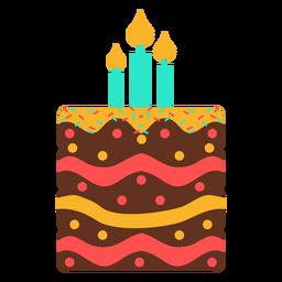 Three candles birthday cake
