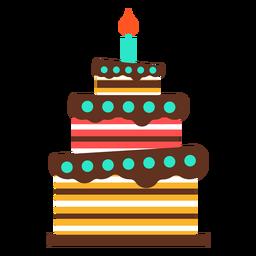Pastel de cumpleaños de tres pisos
