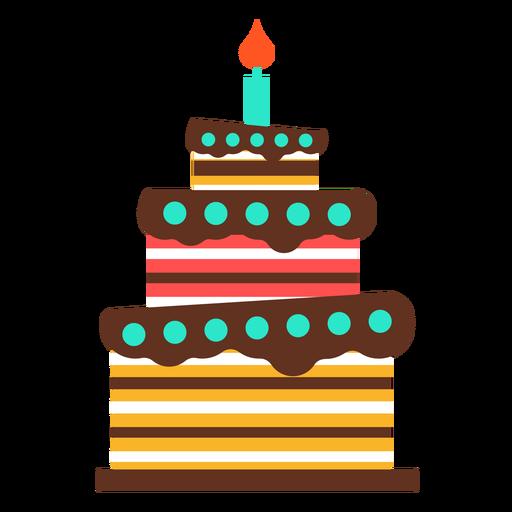 Pastel de cumpleaños de tres pisos Transparent PNG
