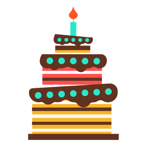 Three floors birthday cake Transparent PNG