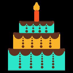 Geburtstagskuchenikone mit drei Böden