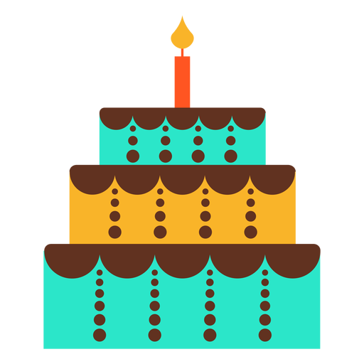 Icono de pastel de cumpleaños de tres pisos Transparent PNG