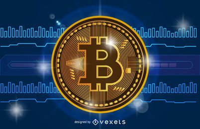 Bitcoin-Kryptowährungsartikel-Header