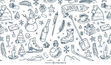 Ilustração de padrão de inverno