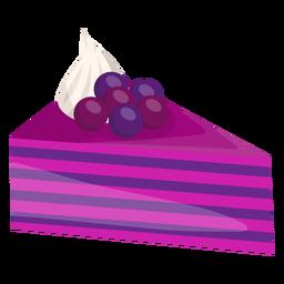 Rebanada de pastel triangular con bayas