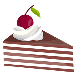 Triangle cake slice with cherry