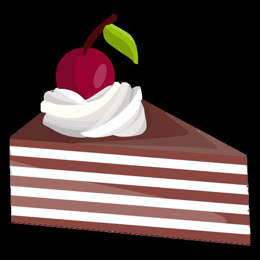 Rebanada de pastel de triángulo con cereza Transparent PNG