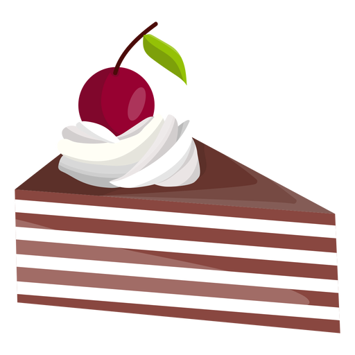Triangle cake slice with cherry Transparent PNG
