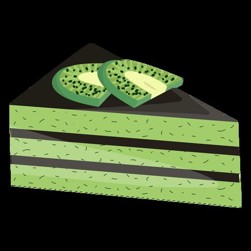Fatia de bolo triângulo com kiwi Transparent PNG