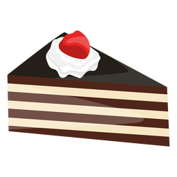 Triangle cake slice with strawberry