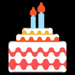 Pastel de cumpleaños con dos velas