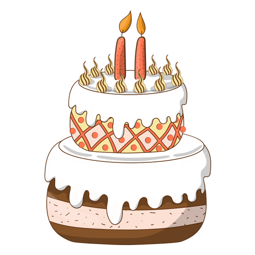 Marvelous Two Candles Birthday Cake Cartoon Transparent Png Svg Vector File Funny Birthday Cards Online Elaedamsfinfo