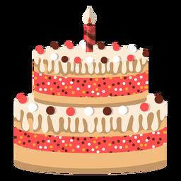 Geburtstagskuchenikone mit zwei Böden
