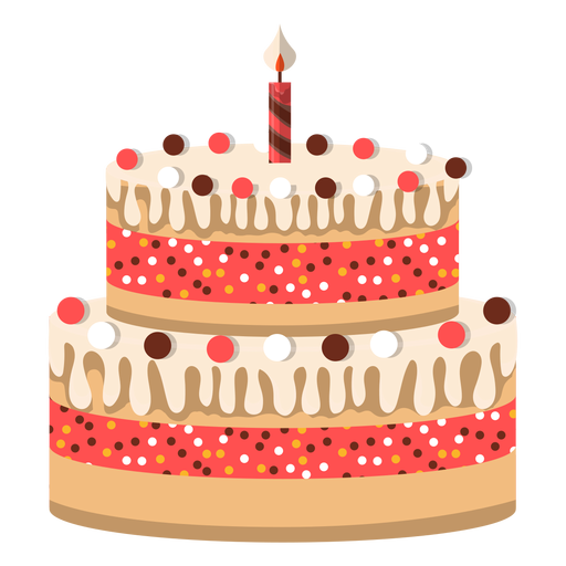 Two Floors Birthday Cake Icon Transparent Png Amp Svg Vector