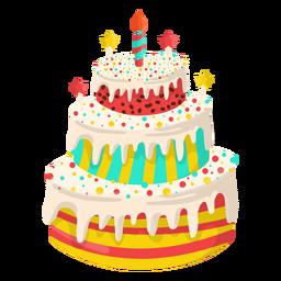 Ilustración de pastel de cumpleaños de vainilla