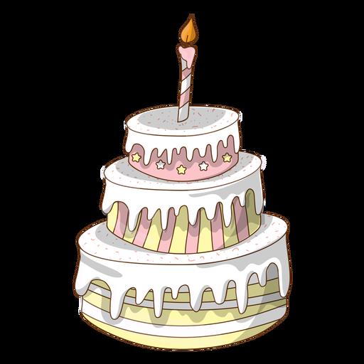 Pastel De Cumpleaños Blanco De Dibujos Animados Descargar Pngsvg