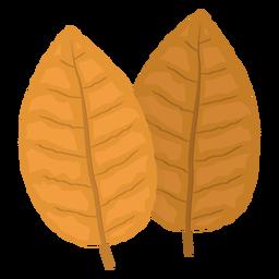 Folhas de tabaco amarelo ilustração