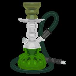 Ilustración de fumar narguile