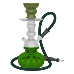 Smoking hookah illustration