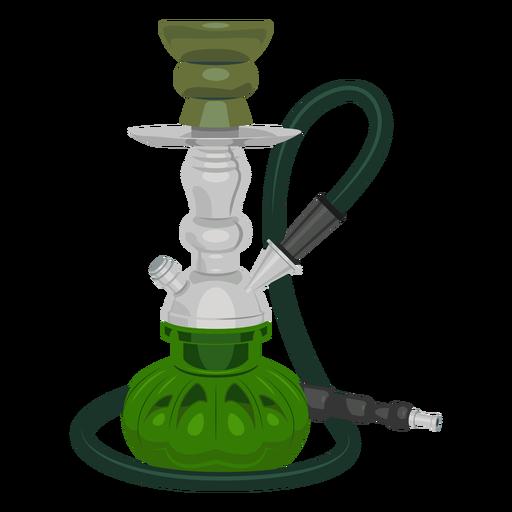 Ilustración de narguile de fumar