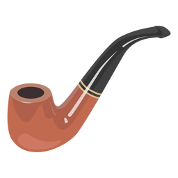 Ilustración de pipa fumadora