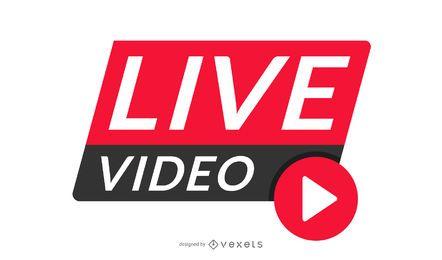Design de cabeçalho de vídeo ao vivo
