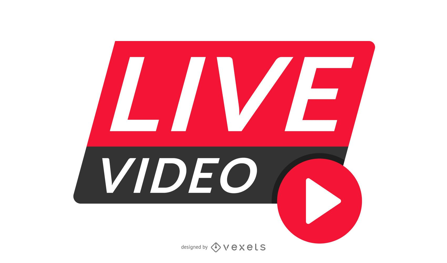 Design do cabeçalho do vídeo ao vivo