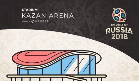 Rusia 2018 Kazan Arena Stadium