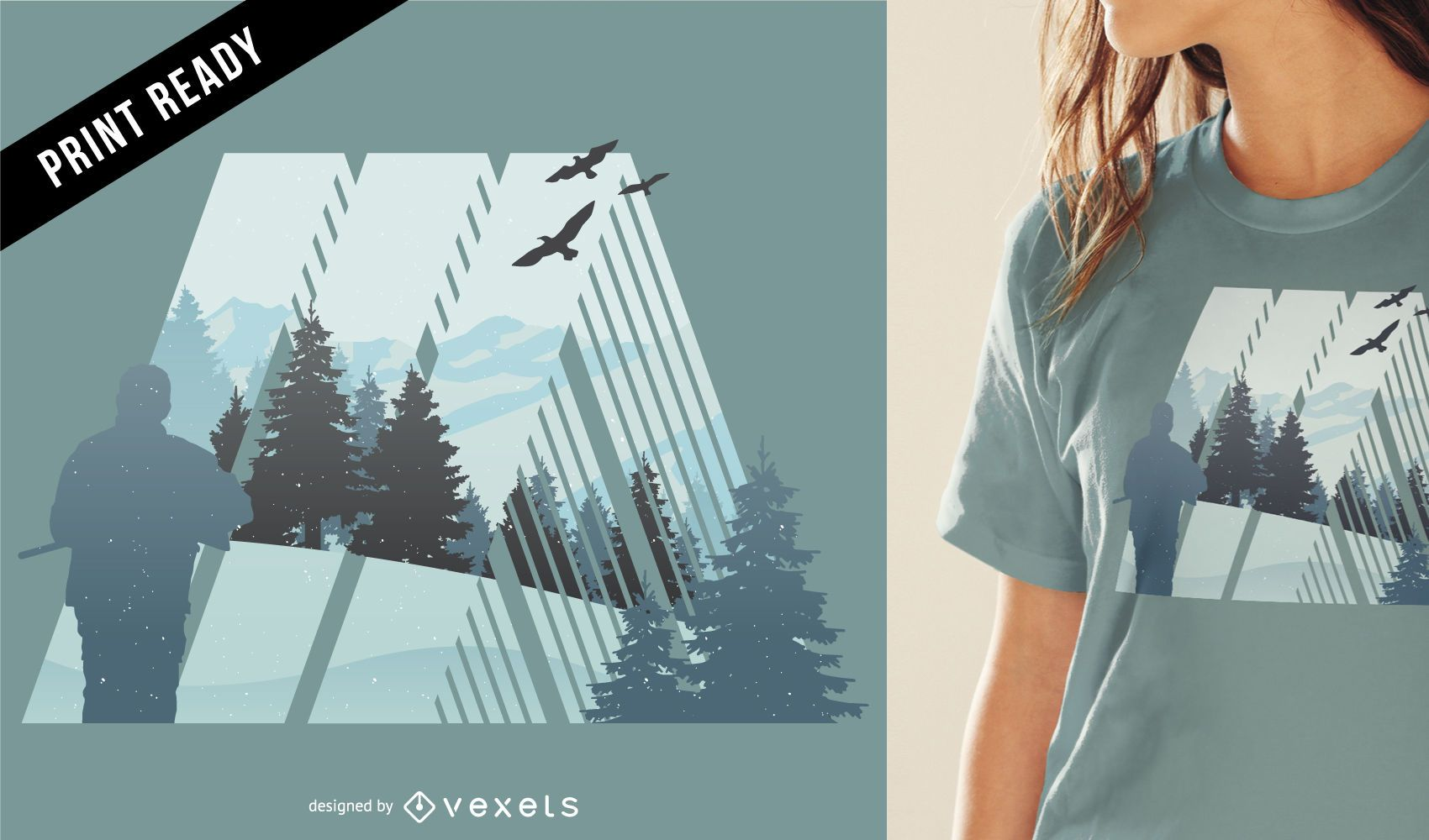 Camping in nature t-shirt design