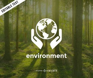 Earth environment logo template