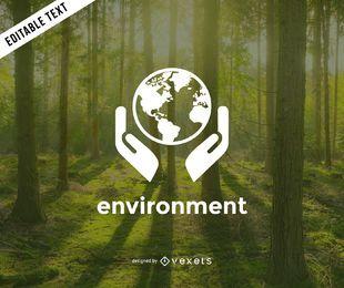 Molde do logotipo do meio ambiente da Terra