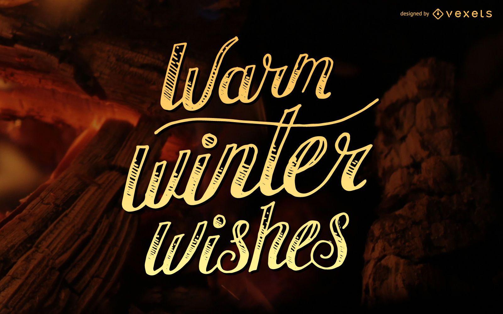 Winter lettering illustration