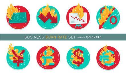 Taxa de queima de negócios definida