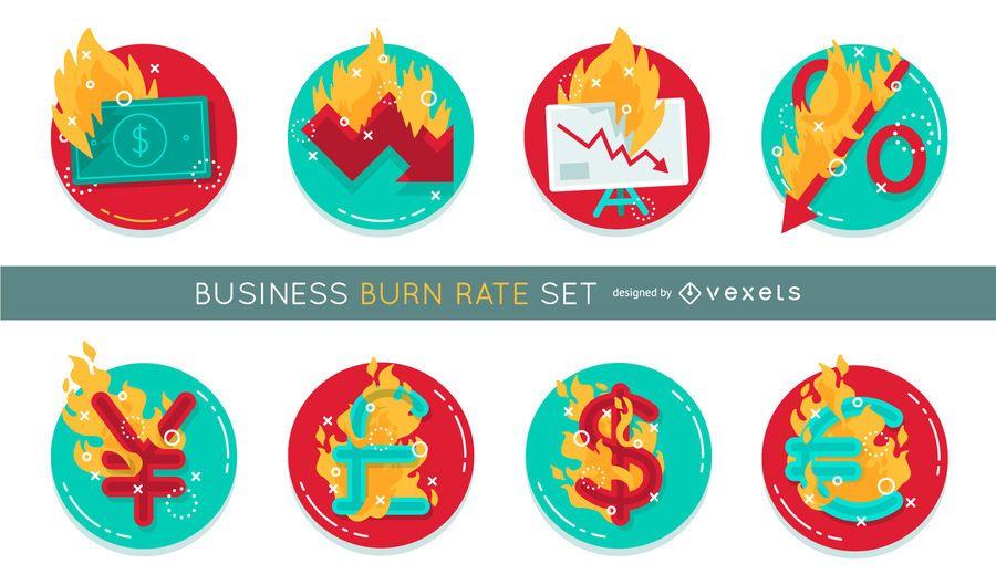 Tasa de quema de negocios establecido