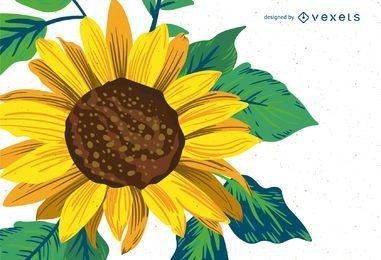 Helle Sonnenblume Zeichnung