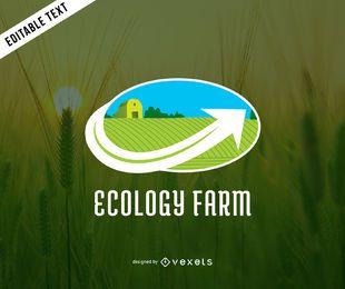Plantilla de logotipo de granja ecología
