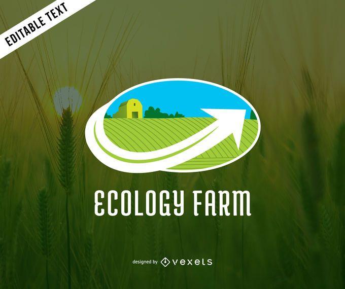 Modelo de logotipo de fazenda de ecologia