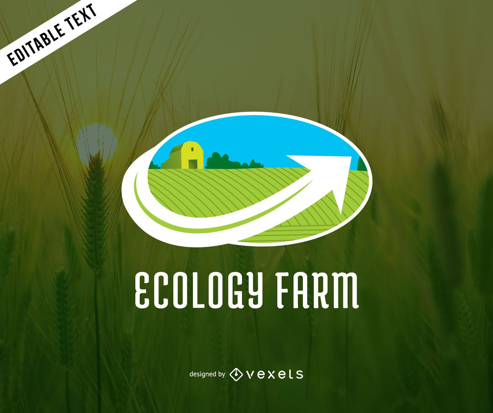 Ecology farm logo template