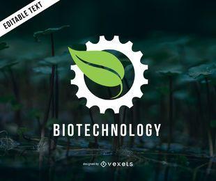 Biotechnologie-Logo-Vorlage