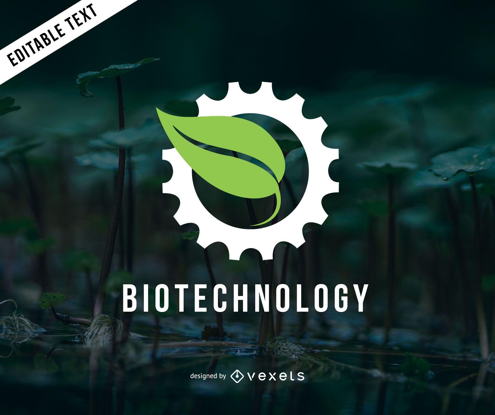 Modelo de logotipo de biotecnologia