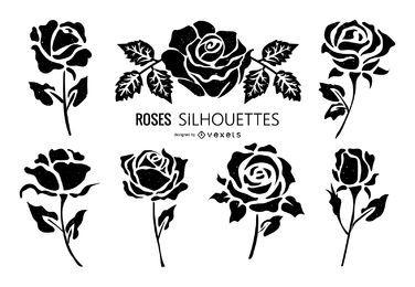Rose Silhouette Sammlung
